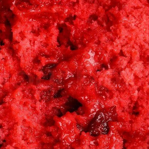 Strawberry sorbet texture